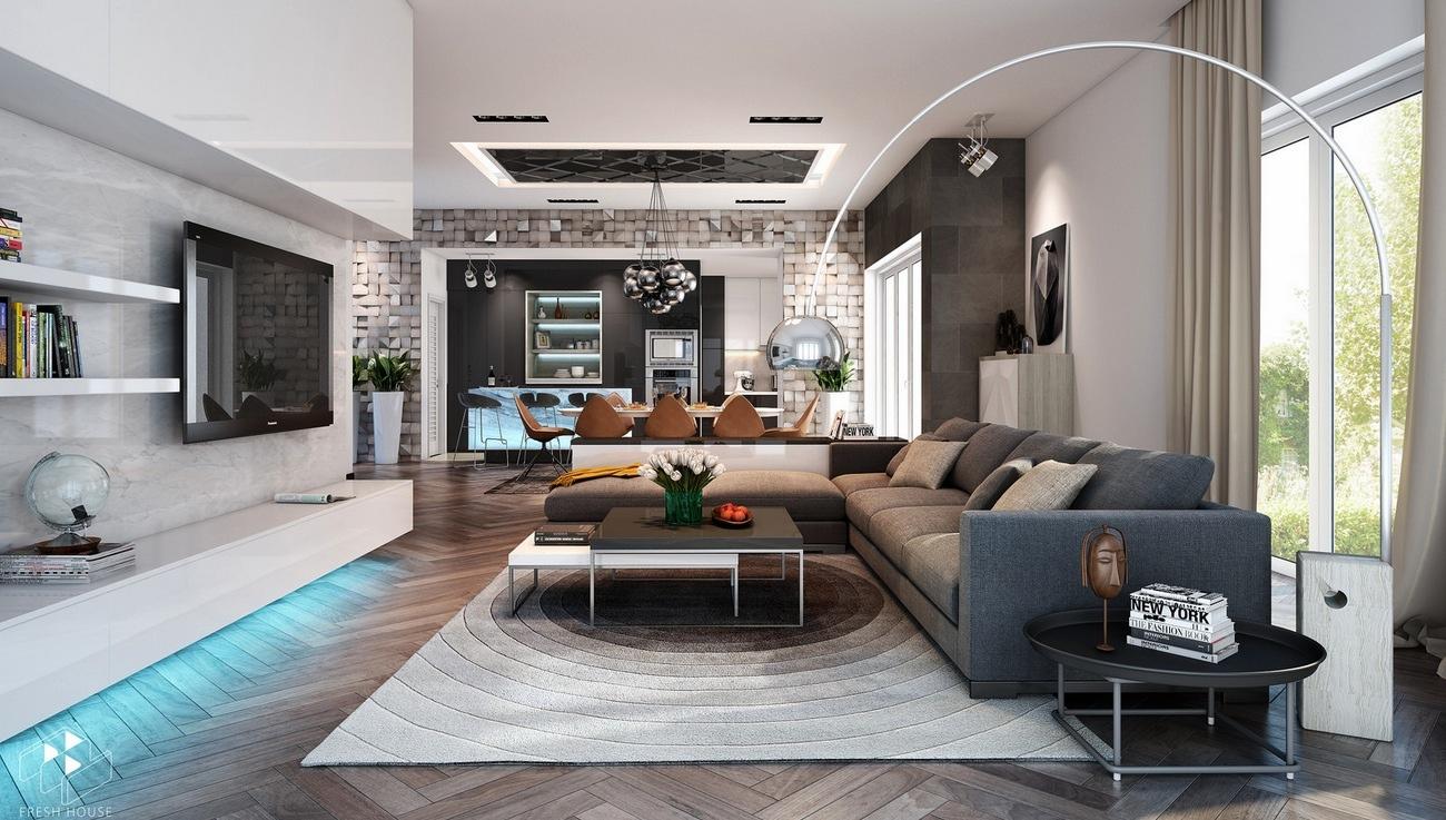 A Home That S Modern Inside And Out: عالم من ديكور المنازل