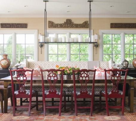 أريكة غرفة طعام منقوشة 1