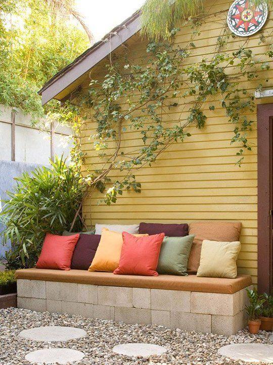 أريكة ديكورات خيالية لحدائق المنازل