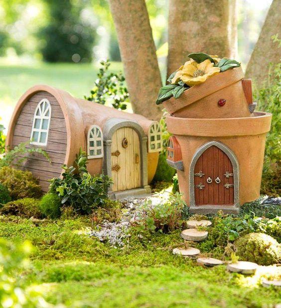 أصيص زرع ديكورات خيالية لحدائق المنازل