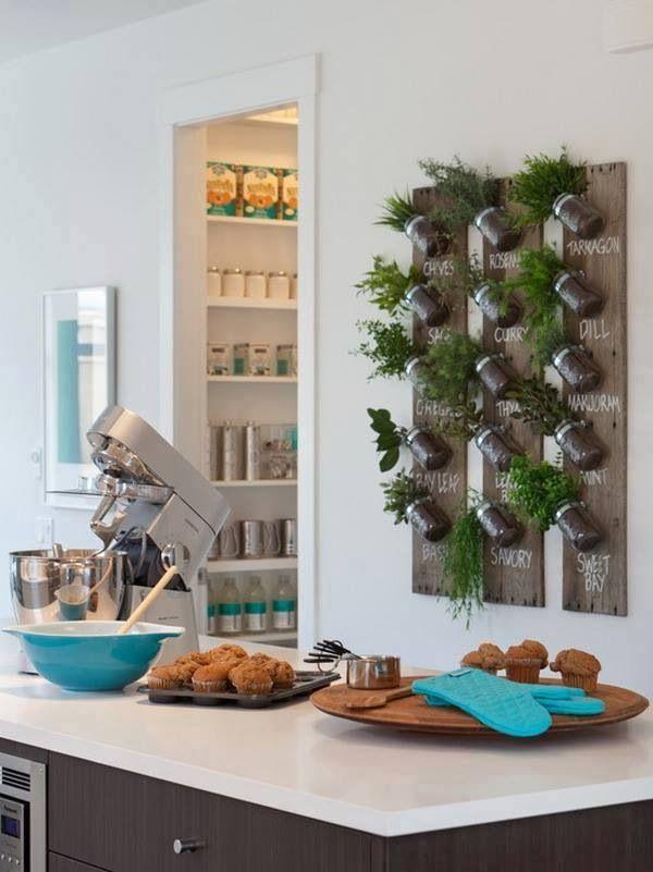 أعشاب مزروعة في المطبخ أضيفي الحيوية الى تصميم المطبخ بطرق مبتكرة