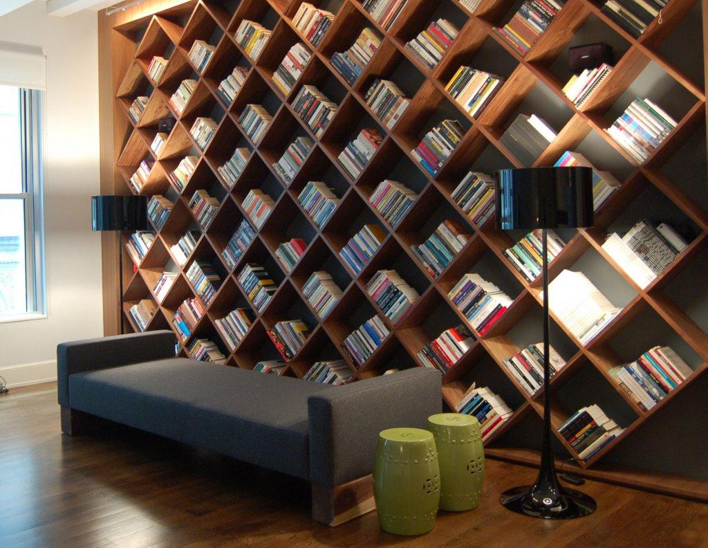 ترتيب الكتب في المكتبة أفكار لتصميم مكتبات منزلية عصرية