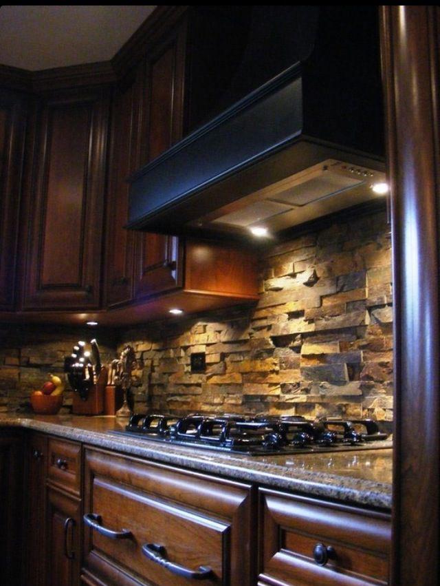 تزيين الجدار بالحجارة 21 5 أفكار متميزة لتزيين جدران مطبخك