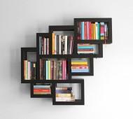 تصميم-مكتبة-معلقة-مربعة