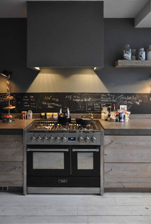 جدار مطبخ سبورة 2 1010x1500 5 أفكار متميزة لتزيين جدران مطبخك