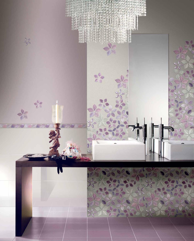 حائط حمام رائع 2 1211x1500 تصميمات حوائط مبهرة في 10 حمامات مودرن رائعة