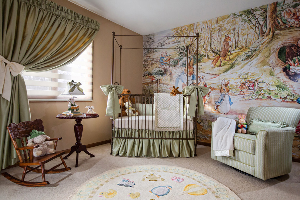 حائط مرسوم في غرفة طفل حائط مرسوم في غرفة طفل