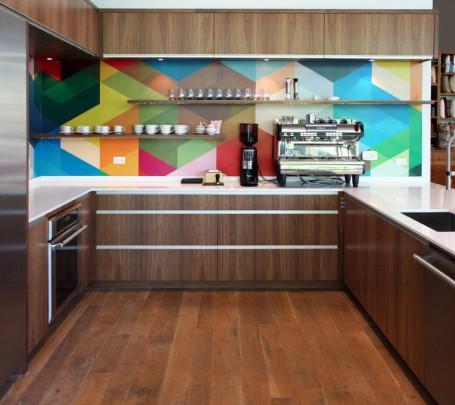 حائط مطبخ ملون 1