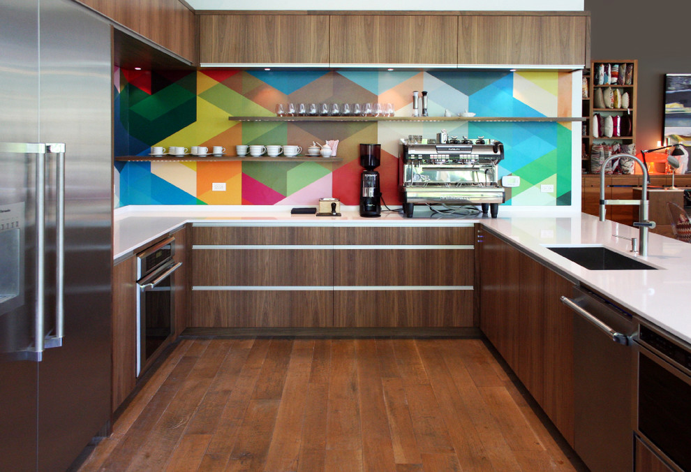 حائط مطبخ ملون 1 حائط مطبخ ملون 1