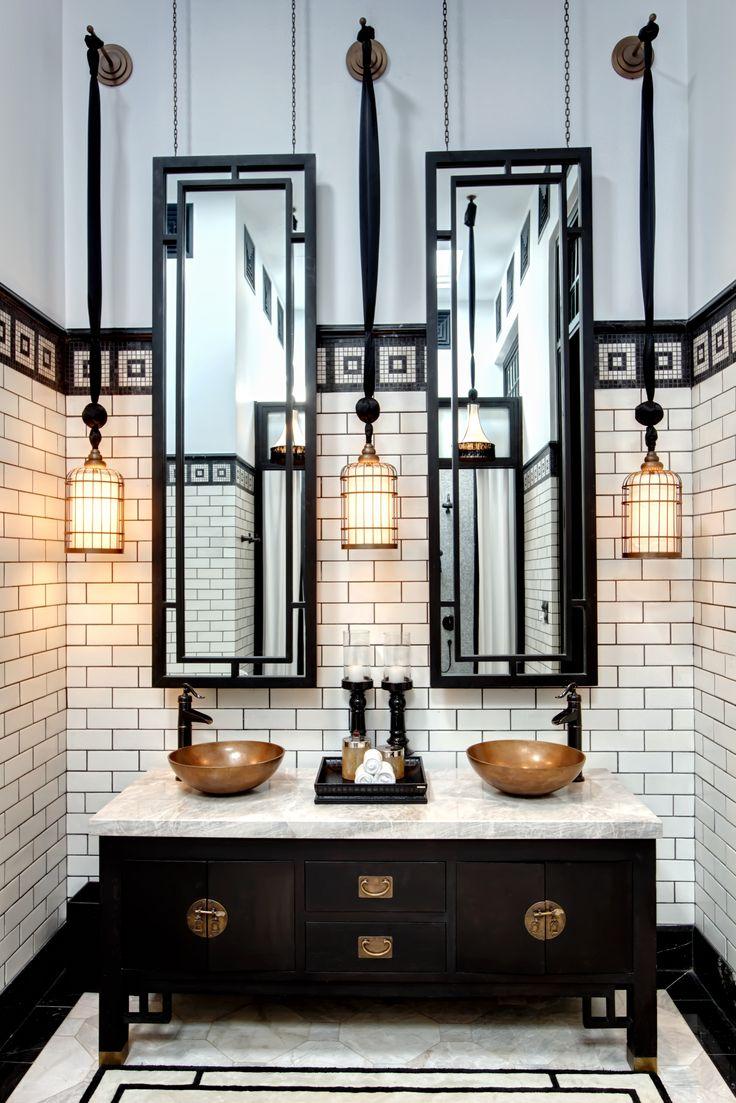 حمام أبيض و أسود 3 الأبيض والأسود.. أناقة وتميز في حمامك