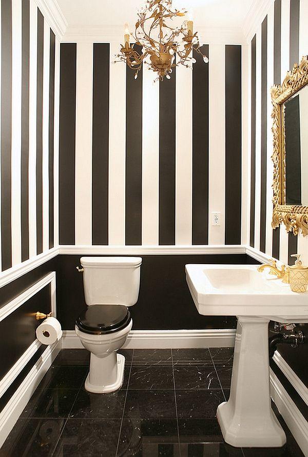 حمام أبيض و أسود 5 الأبيض والأسود.. أناقة وتميز في حمامك