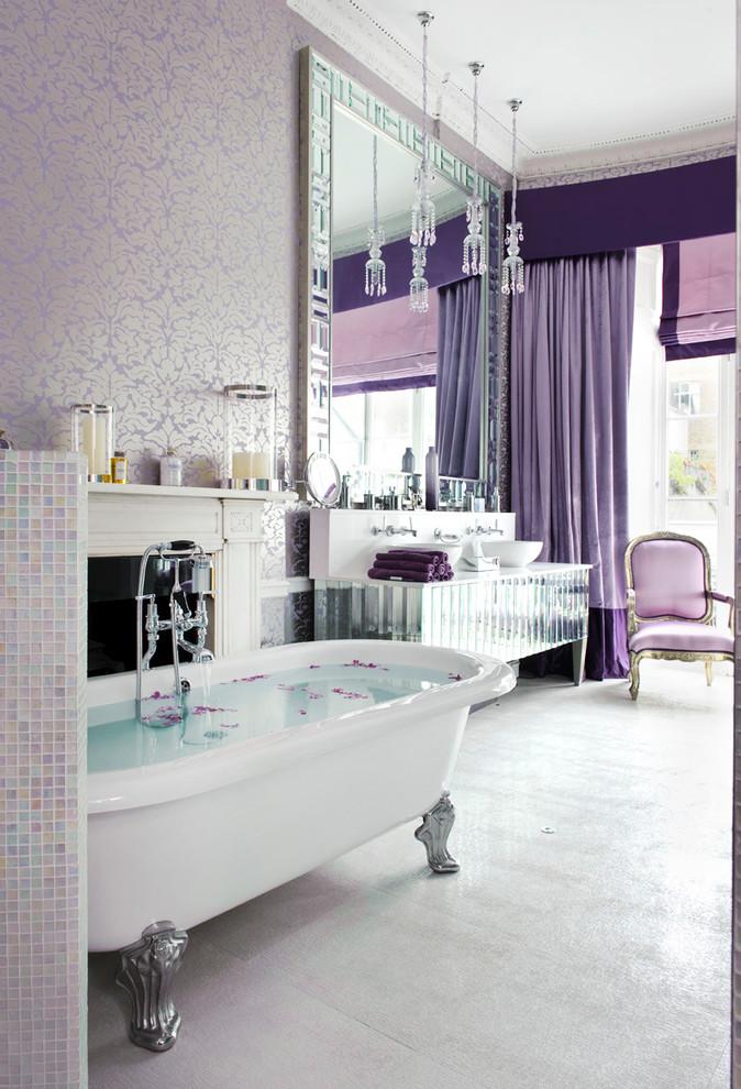 حمام أنيق وفخم 7 حققي الفخامة والرقي في الحمام مع أحواض الاستحمام الكلاسيكية