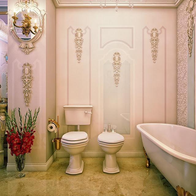 حمام بأبليكات للحوائط 1 5 حمامات ملكية لعشاق الفخامة
