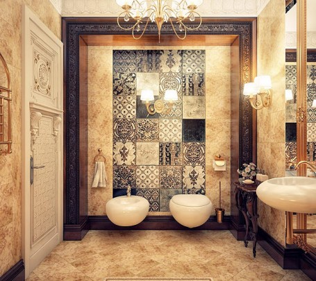 حمام ببلاطات منقوشة 1