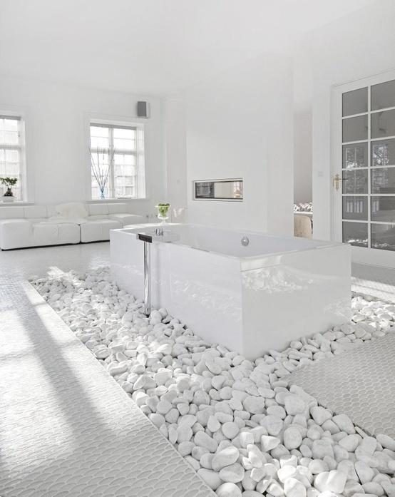 حمام بديكورات حجرية 10 10 حمامات فخمة بديكورات حجرية رائعة