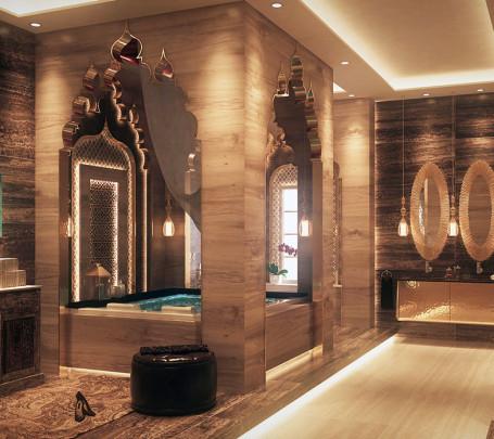 حمام بديكورات شرقية 1ا