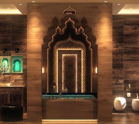 حمام بديكورات شرقية 1