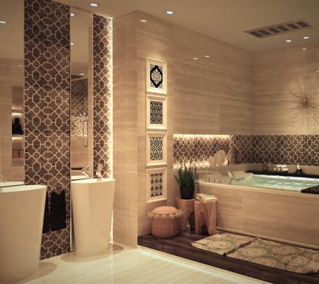 حمام بديكورات شرقية 2ا