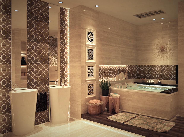 حمام بديكورات شرقية 2ا 10 حمامات فخمة بلمسات عربية مبهرة