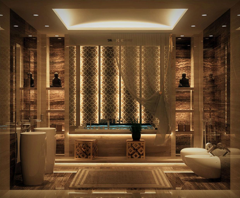 حمام بديكورات شرقية 2 حمام بديكورات شرقية 2