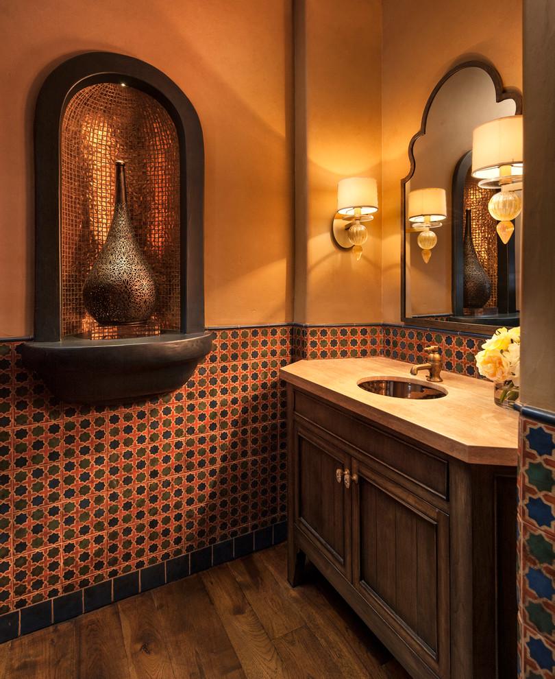 حمام بديكورات شرقية 9 10 حمامات فخمة بلمسات عربية مبهرة
