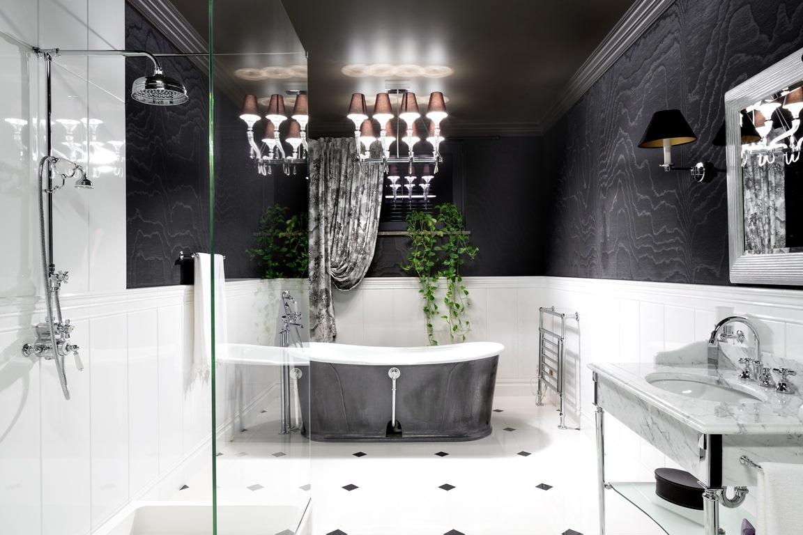 حمام ثاني فخم منزل فخم يجمع الديكور الكلاسيك والمودرن بشكل فني رائع