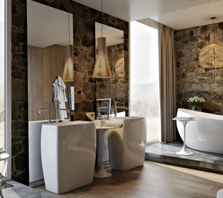 حمام ذو حوائط حجرية 1ا