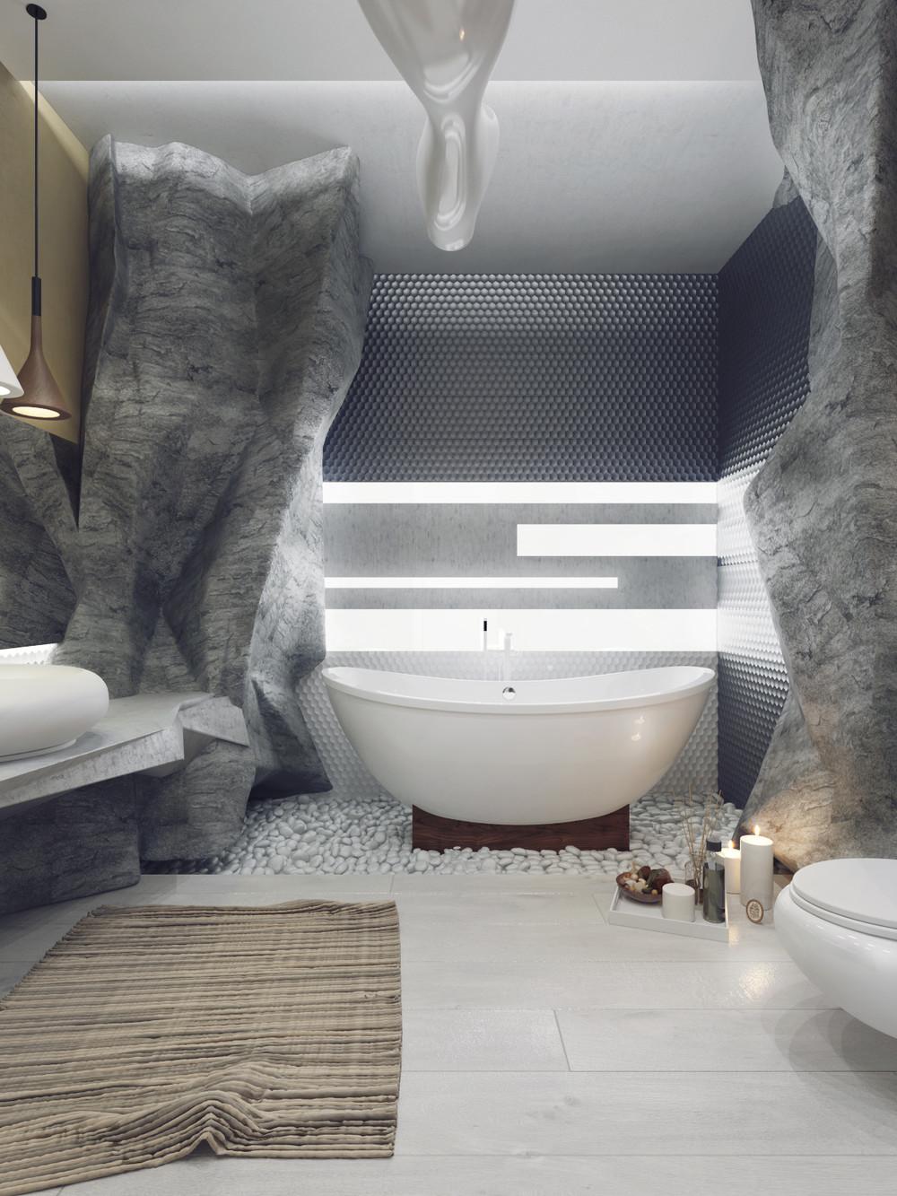 حمام ذو حوائط حجرية 3 حمام ذو حوائط حجرية 3