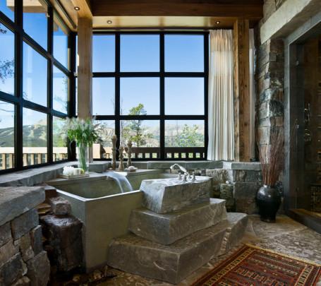 حمام ذو حوائط حجرية 4