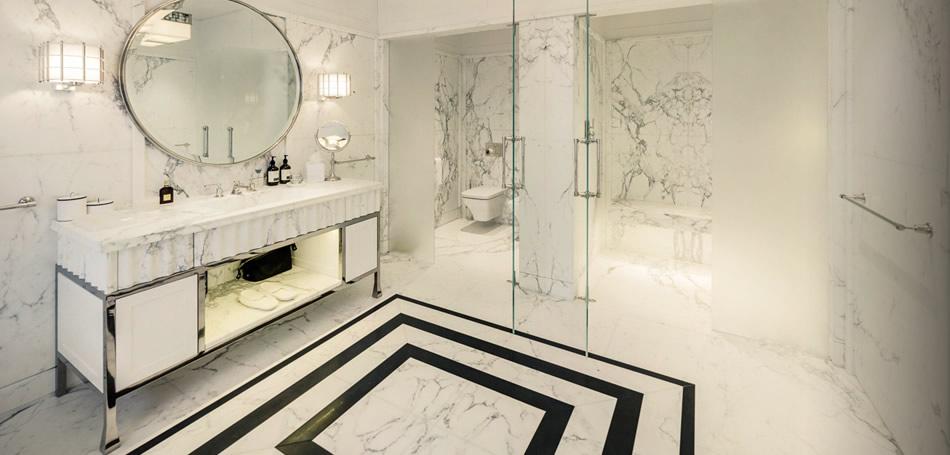 حمام رخام فخم 1ا فخامة وروعة الرخام في تصميمات 15 حمام رائع