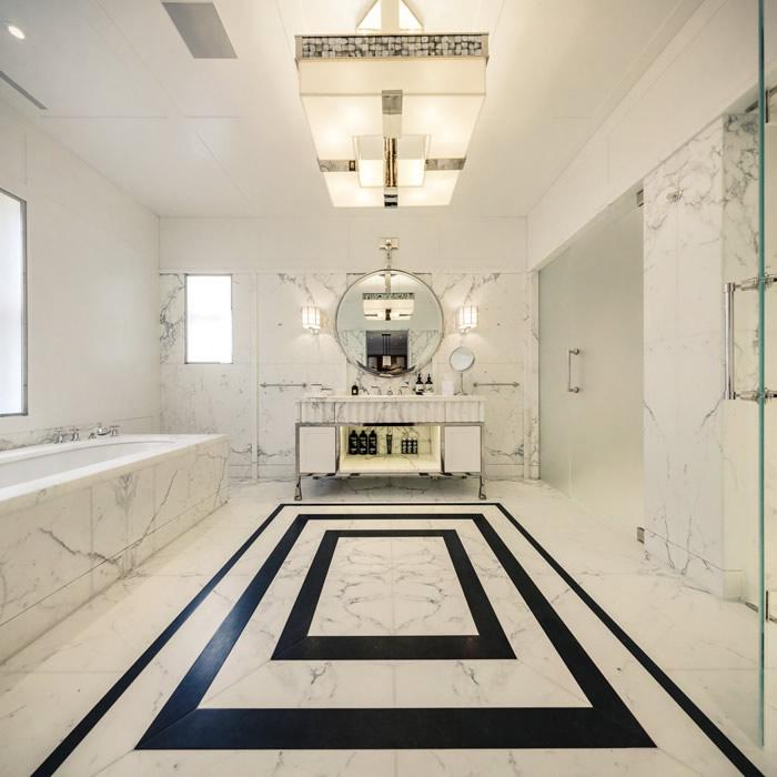 حمام رخام فخم 1 فخامة وروعة الرخام في تصميمات 15 حمام رائع