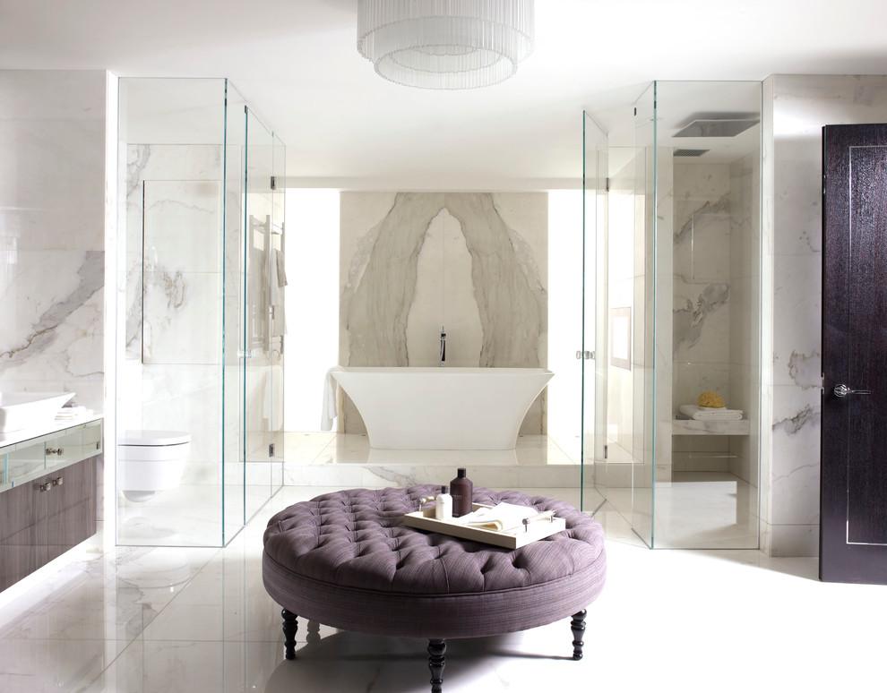 حمام رخام فخم 2 فخامة وروعة الرخام في تصميمات 15 حمام رائع