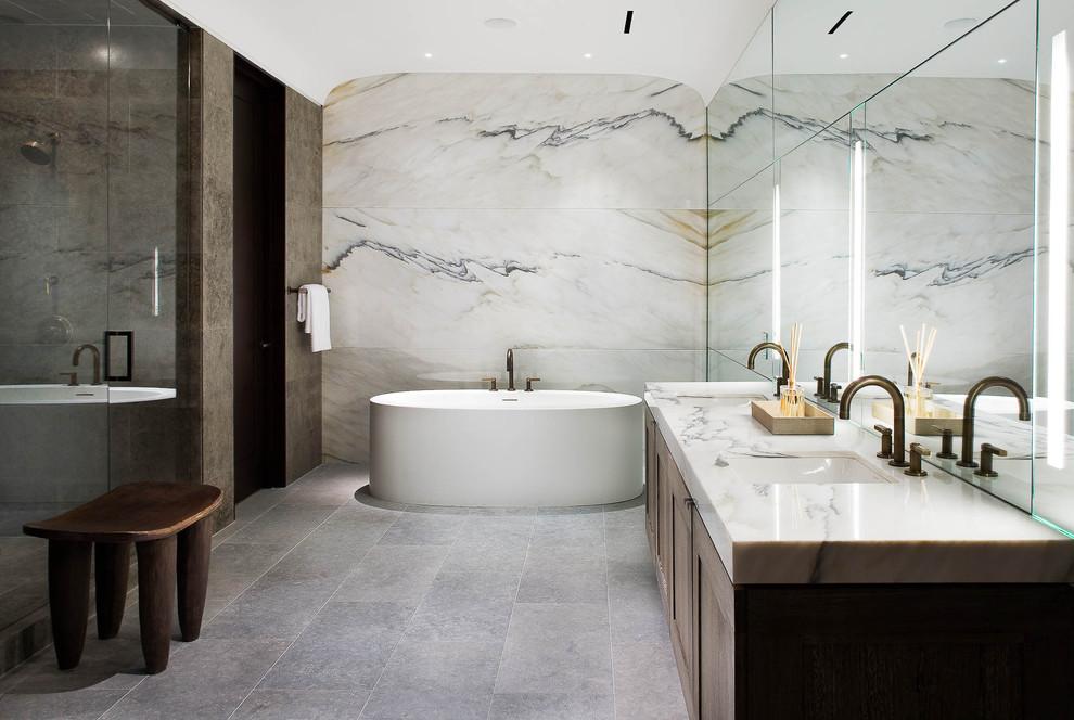 حمام رخام فخم 3 فخامة وروعة الرخام في تصميمات 15 حمام رائع