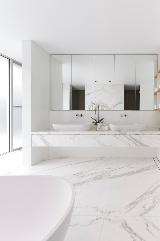 حمام رخام فخم 4 فخامة وروعة الرخام في تصميمات 15 حمام رائع