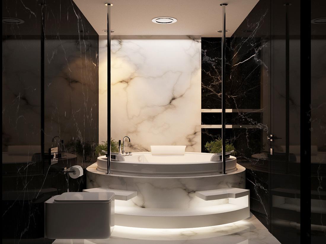 حمام رخام فخم 8 فخامة وروعة الرخام في تصميمات 15 حمام رائع