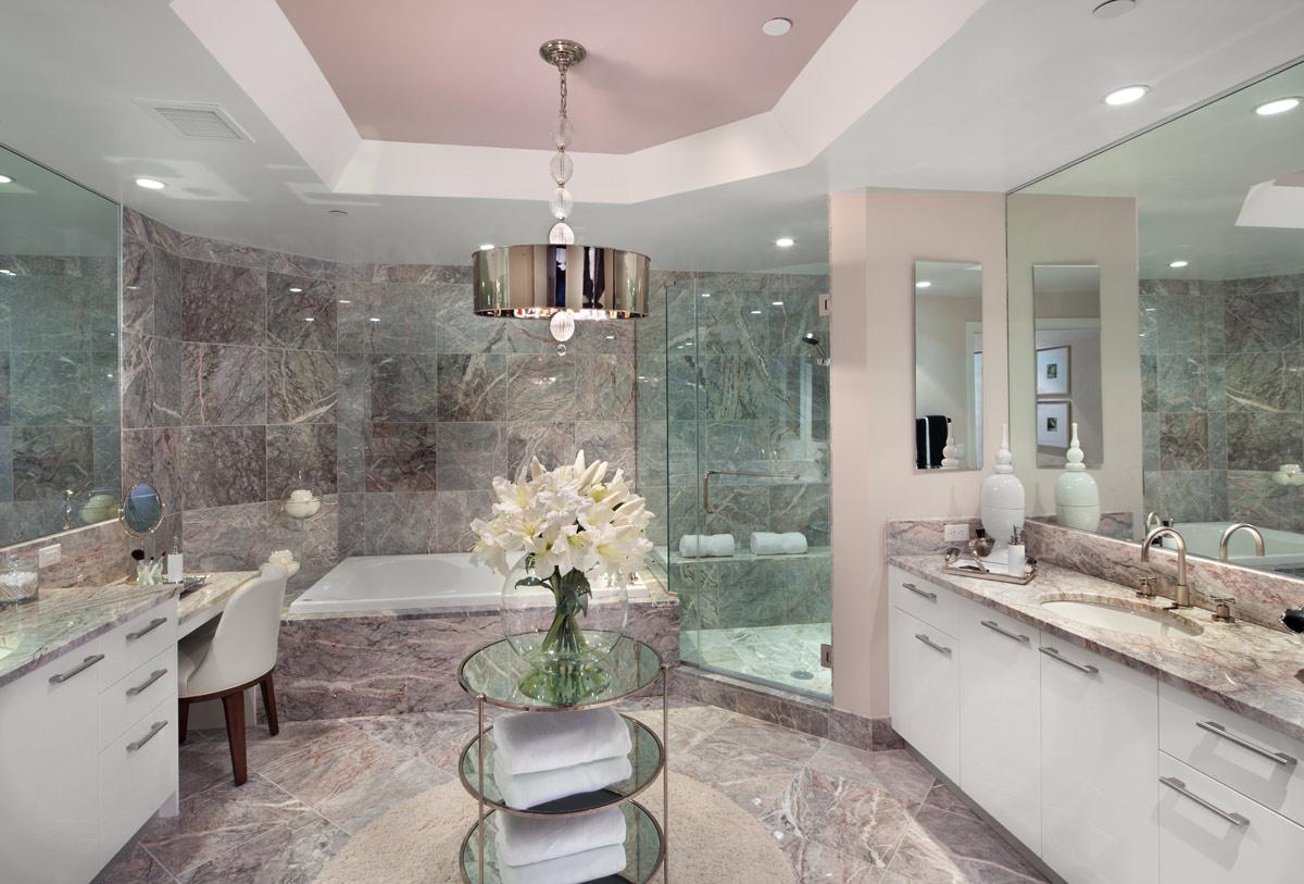 حمام رخام فخم 9 فخامة وروعة الرخام في تصميمات 15 حمام رائع