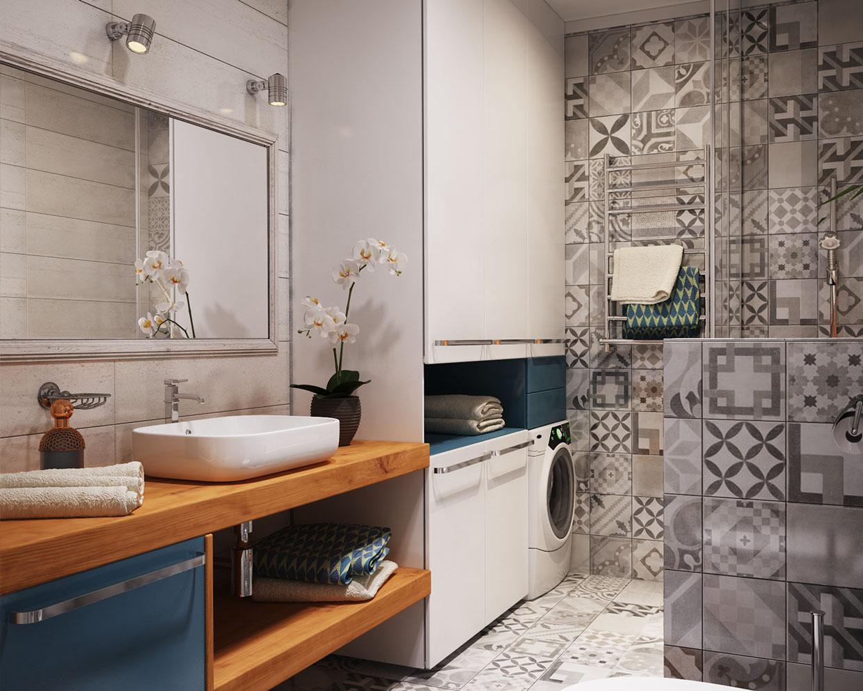 حمام صغير 1ب1 أفكار ممتازة للمساحات الصغيرة في تصميم شقة سكنية رائعة