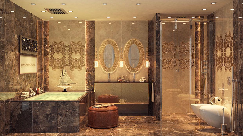 حمام عصري بتفاصيل كلاسيك 5 حمام عصري بتفاصيل كلاسيك 5