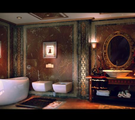 حمام عصري بتفاصيل كلاسيك 6