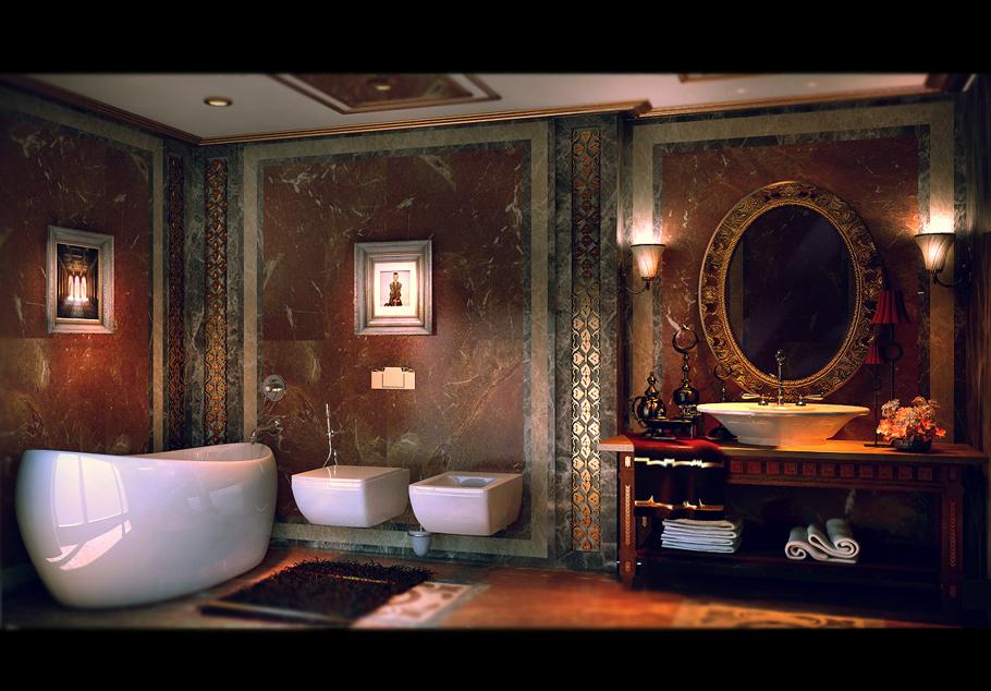 حمام عصري بتفاصيل كلاسيك 6 حمام عصري بتفاصيل كلاسيك 6
