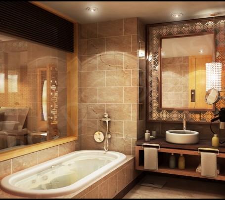 حمام عصري بتفاصيل كلاسيك 7