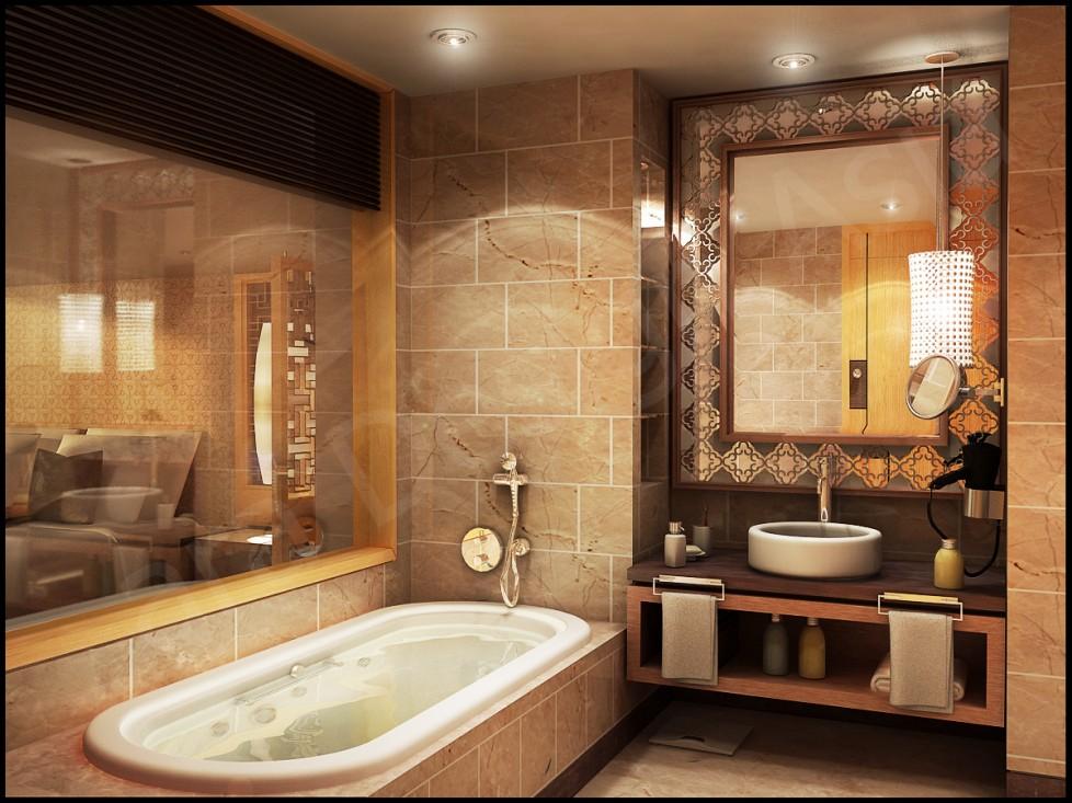 حمام عصري بتفاصيل كلاسيك 7 حمام عصري بتفاصيل كلاسيك 7