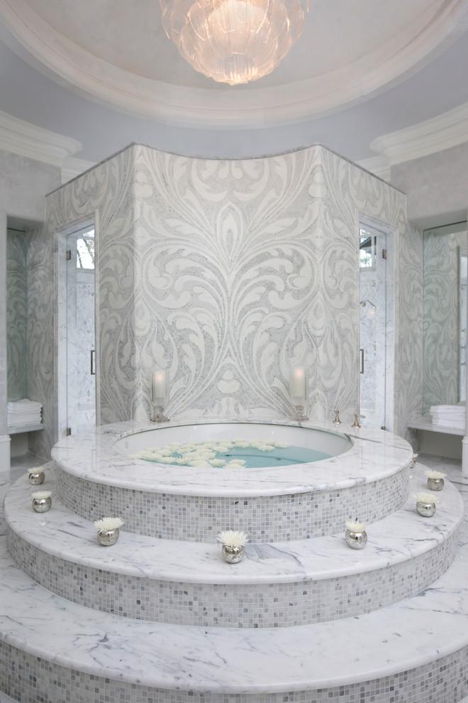 حمام موزاييك 1 الموزاييك.. فخامة وروعة في حمامك