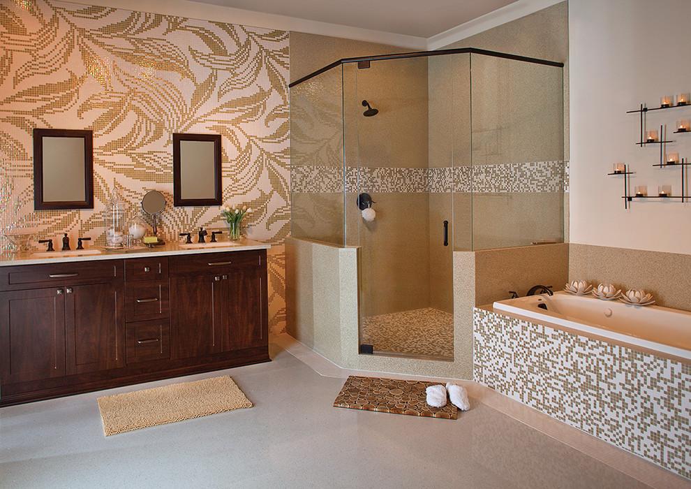 حمام موزاييك 3 الموزاييك.. فخامة وروعة في حمامك