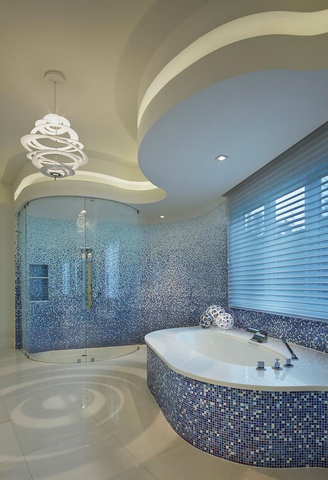 حمام موزاييك 4 الموزاييك.. فخامة وروعة في حمامك