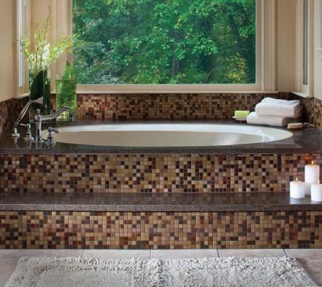حوض استحمام موزاييك