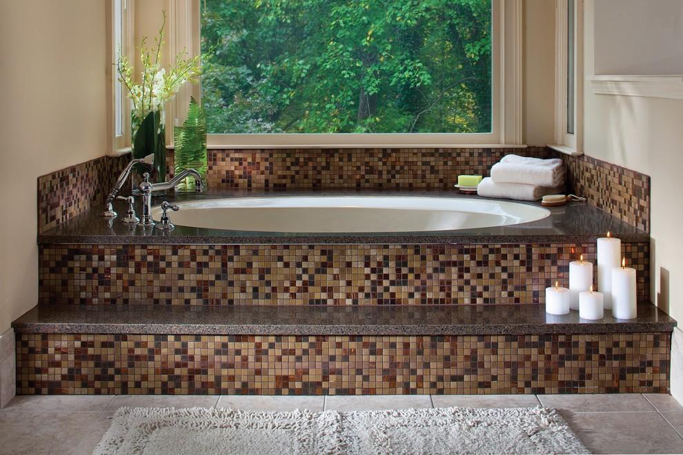 حوض استحمام موزاييك1 الموزاييك.. فخامة وروعة في حمامك