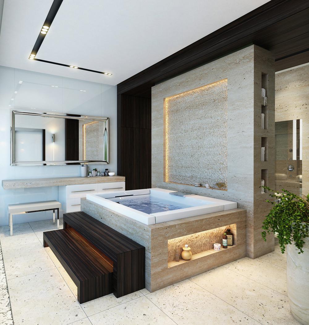 حوض استحمام 1 أحواض استحمام فريدة لهواة الرفاهية