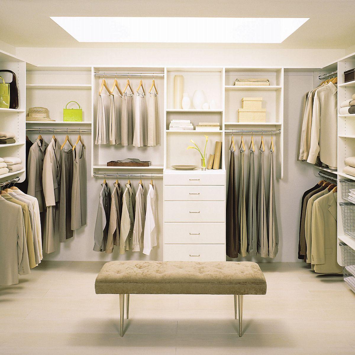 2017 Modern Simple Closet Wooden Designs In Bedroom Wall: 7 أفكار ممتازة لخزانة ملابس منظمة دائمًا