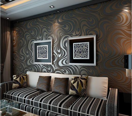 ديكور باللون الفضي تصاميم جدران منازل لهواة الديكورات الجريئة